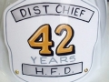 42 Year Retired Firefighter Shield