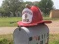 Fire Helmet Mailbox